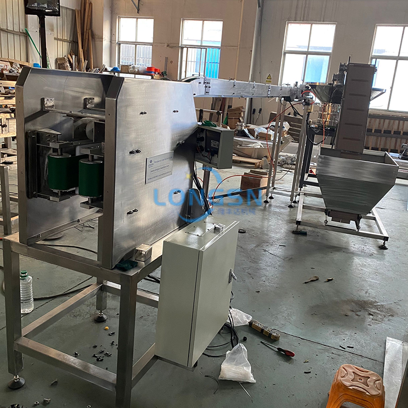 Auto Bottle Neck Handle Ring Pressing Machine
